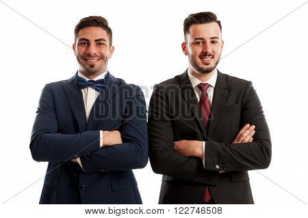 Confident And Successful Business Men Crossing Arms Against The Chest