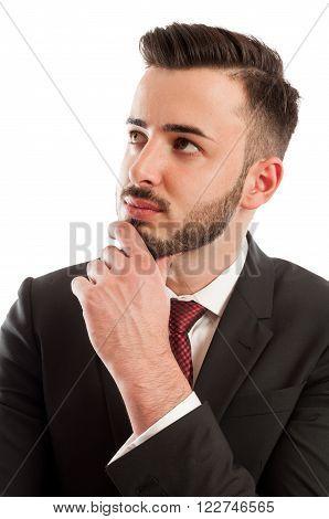 Intelligent Business Man Thinking