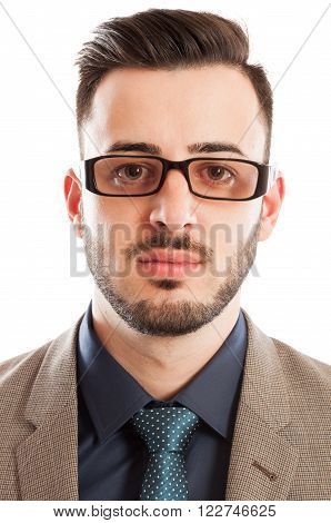 Portrait Of A Handsome Accountant Or Professor
