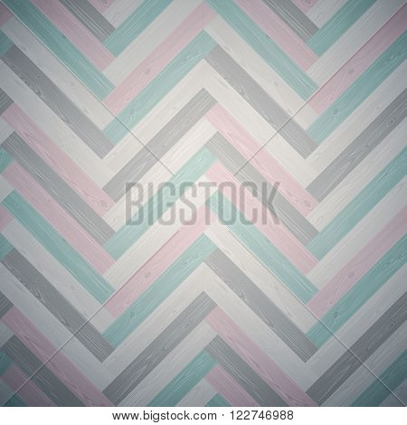 Mixed herringbone parquet floor texture. Editable vector pattern in swatches.