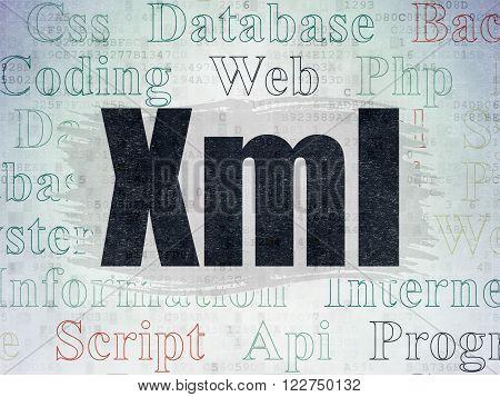 Software concept: Xml on Digital Paper background