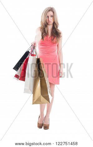 Upset Shopping Girl