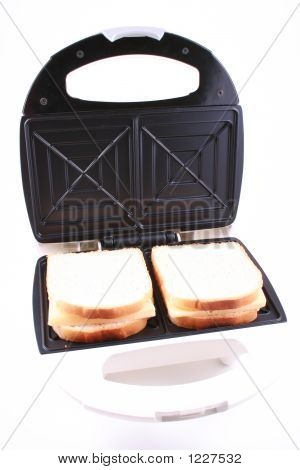toaster and some fresh bread ready to do breakfast poster