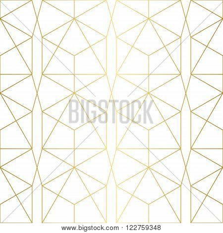 Golden texture. Seamless geometric pattern. Geometric background.