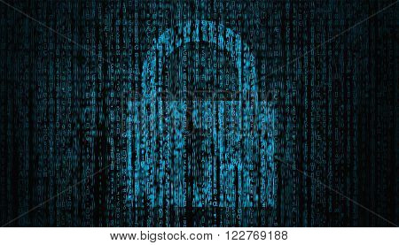 Internet Security concept with lock symbol  high quality computer graph