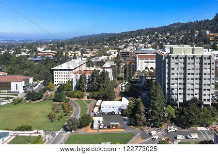 Aerial view of Berkeley, California Berkeley,California,USA - August 27, 2012 : View of Berkeley from the top of the Campanile