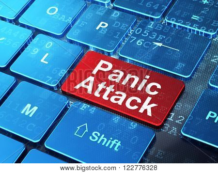 Medicine concept: Panic Attack on computer keyboard background
