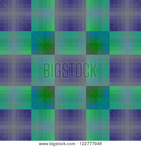 Seamless background with cell and blue and green collor line