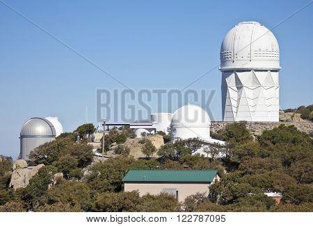 TUCSON, ARIZONA, FEBRUARY 28. Kitt Peak National Observatory on February 28, 2016, near Tucson, Arizona. A view of five of the large telescopes at Kitt Peak National Observatory near Tucson Arizona.