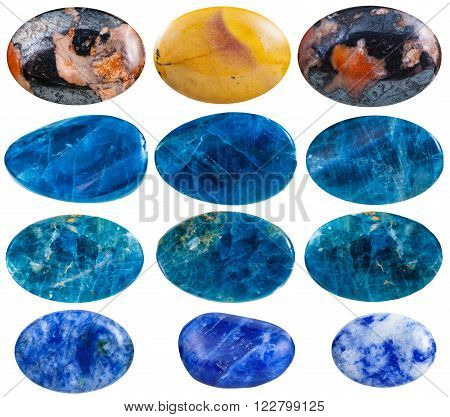 Set Of Mookaite, Kyanite, Lapis Lazuli Gemstones
