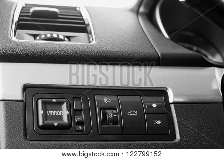 Mirrors and vehicle opening tailgate control unit