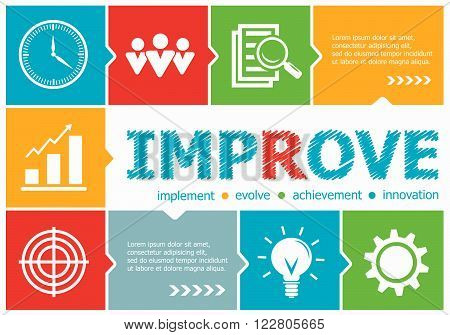 Improve Design Illustration Concepts For Business, Consulting, Management, Career.