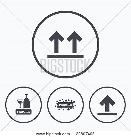 Fragile Icons Vector Photo Free Trial Bigstock