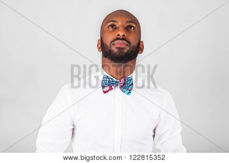 African American Young Man Wearing An Tradional Bow Tie