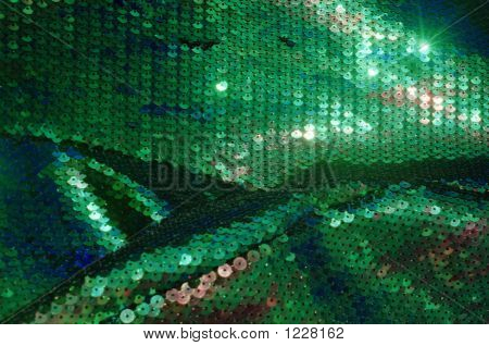 Green Fish Scale Fabric