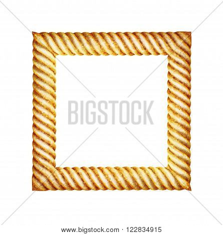 vintage classical photo frame isolated on white background.