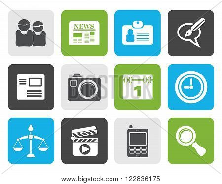 Black web site, computer and business icons - vector icon set