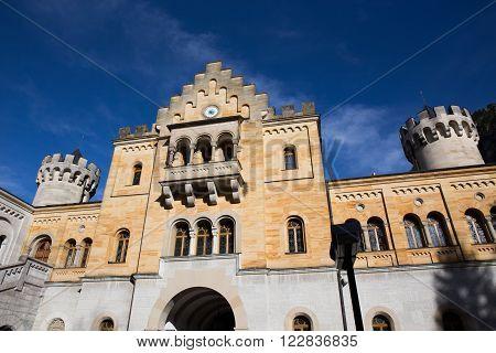 Castle with Blue Sky Schloss Neuschwanstein - Fussen Germany