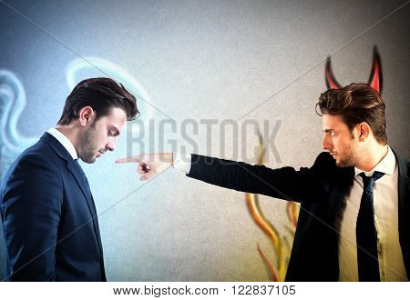 Man as devil accuses man as Angel