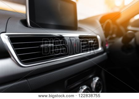 Interior of a modern car, Car Air Conditioner