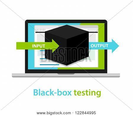 black box testing input output process  software development process methodology vector