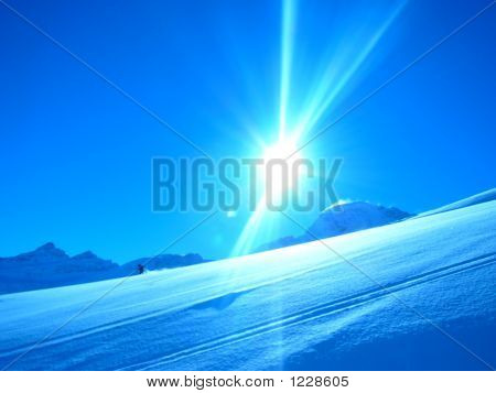 The Sun In Mountains