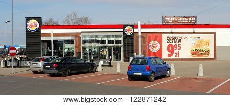 SZCZECIN, POLAND - March 19, 2016: Burger King restaurant in Szczecin