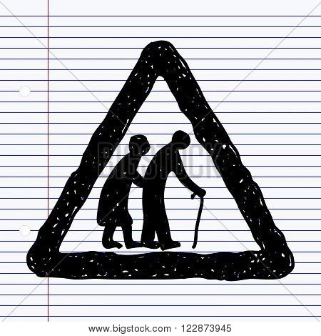 Simple Doodle Of A Road Sign