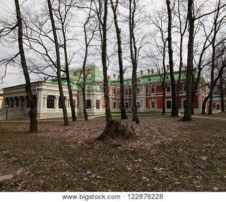 Gomel Region, Zhlobin District, Village Red Bank , Belarus - March 16, 2016: Gatovsky Manor Is A Mon