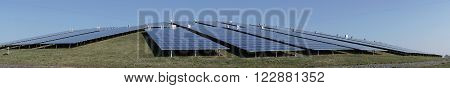 solar plant on a mountain on the outskirts of Magdeburg