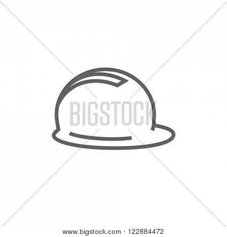 Hard hat line icon.