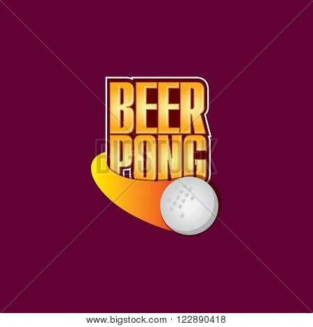 Vector Logo Template for a Beerpong Party