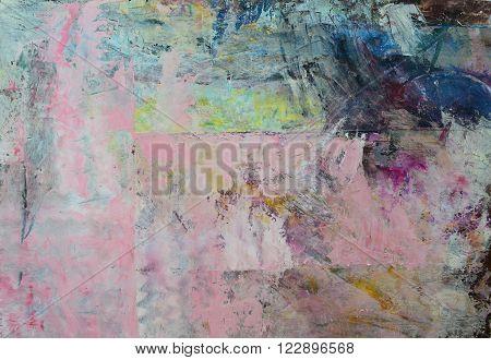 Mixed palette knife on canvas oil paints free interpretation.