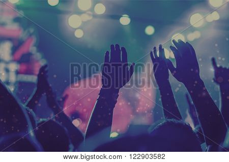 Popular Music Concert Crowd Music Event Party Music Festival Entertainment poster