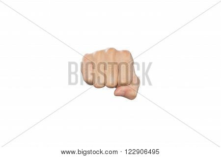 Hand Fist action isolated on white background