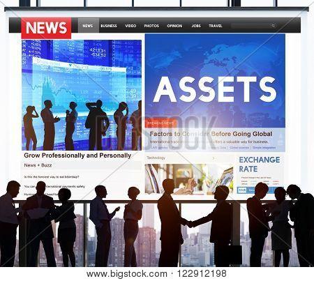 Assets Wealth Possession Money Resources Concept