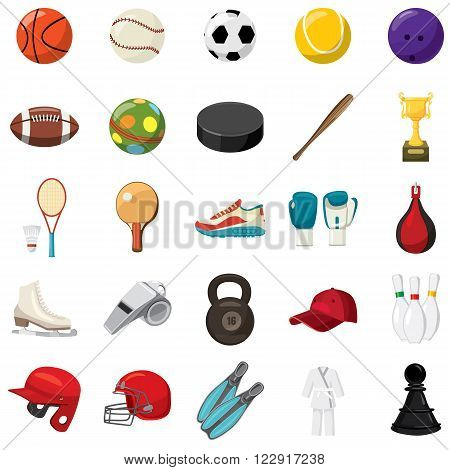 Sport game icons set use for any design