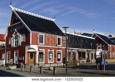 REYKJAVIK ICELAND March 8 2016 : Reykjavik is the world's northernmost capital of a sovereign state and then a popular tourist destination. It is the heart of Iceland's cultural economic and governmental activity.