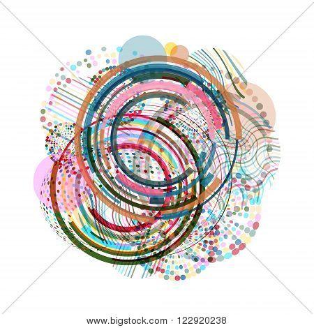 Vector Geometric Circle Background . Circle Pattern Background . Abstract Circles Geometrical Background . Modern Geometrical Circles Design Template .