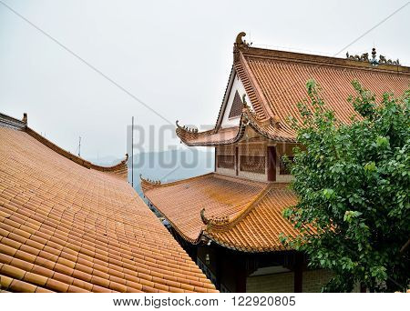 Landscape of Hongfa buddhist temple in China