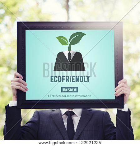 Ecofriendly Ecological Environmental Growing Concept