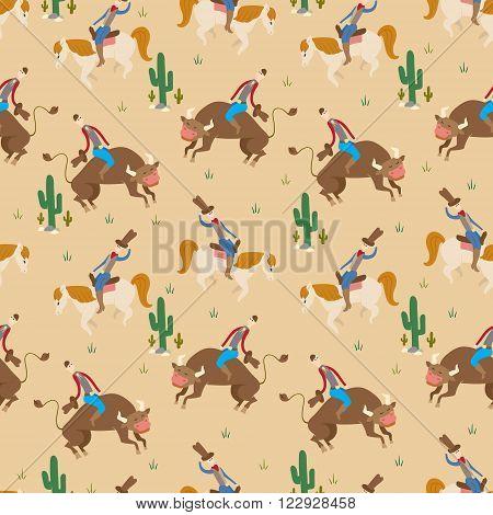 Rodeo Seamless Pattern