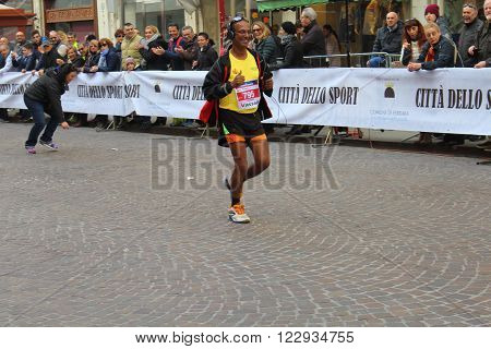 Ferrara, Italy - 20 march 2016 -  FERRARA MARATHON FAMILY RUN - the ludic-motor event by running or walking at any pace that allows you to experience the excitement of the Marathon