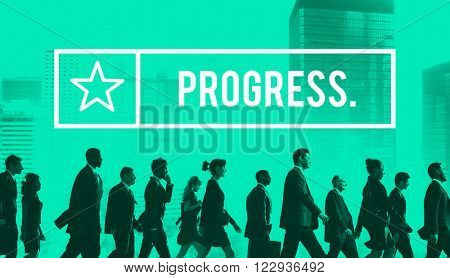Progress Progression Progressive Development Concept