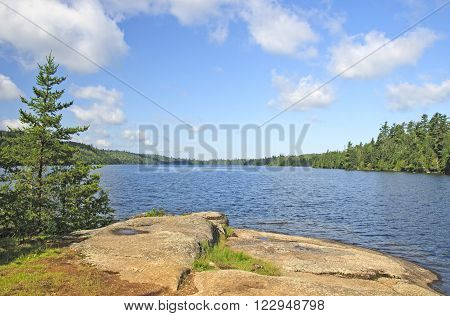 Morning View on a Winchell Lake in the Boundary Waters of Minnesota