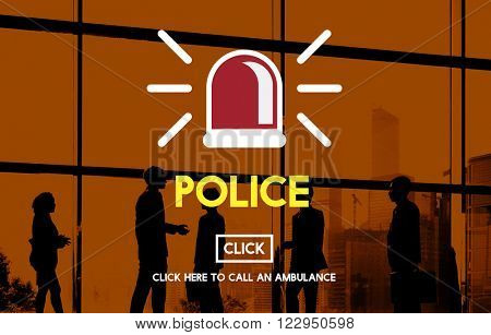 Police Force Cop Surveillance Officer Law Concept