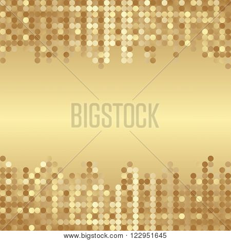 golden background with dots and copy space