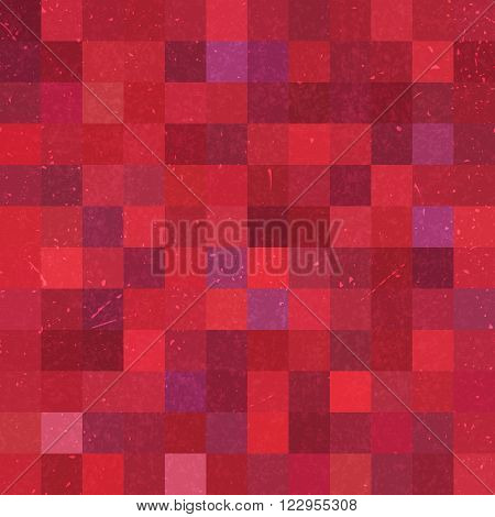 Seamless Geometric Checked Pattern. Red, Brown, Purple Colors. Ideal For Printing Onto Fabric And Pa