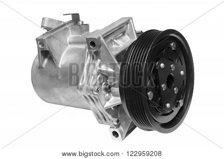 Air conditionng compressor on a white background