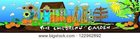Children's Garden Pumpkin Patch for outdoor signage